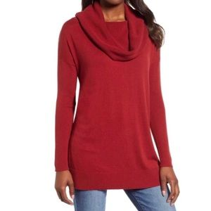 Caslon Slit Convertible Cowl Neck Tunic NWT